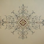 Restored hand painted ceiling