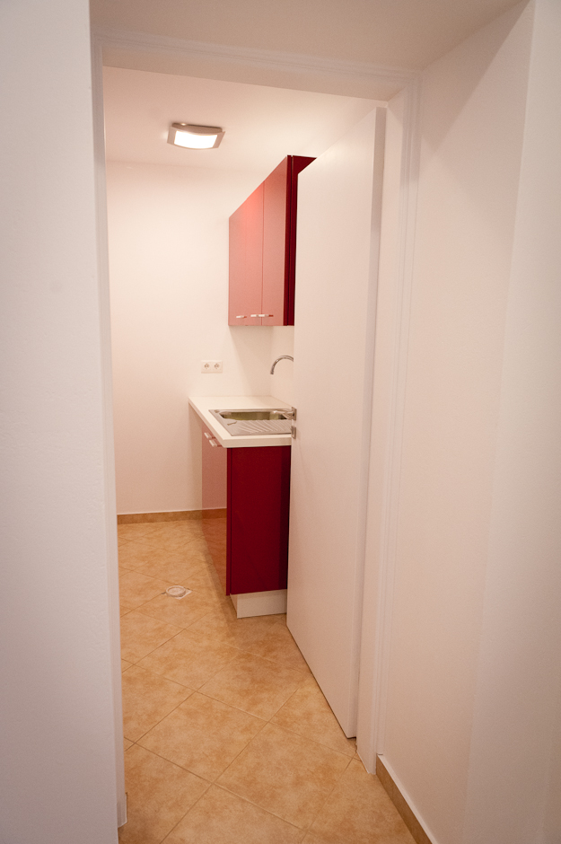 A kitchenette in the lower level serves the office spaces